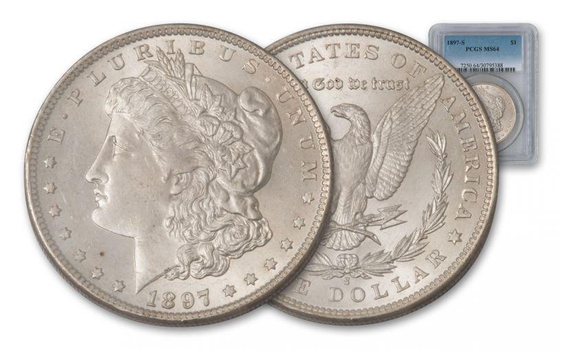 1897-S Morgan Silver Dollar NGC or PCGS MS64