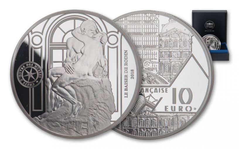 2018 France €10 Silver Masterpieces of the Museums: The Kiss Proof
