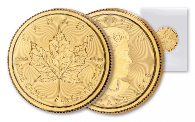2019 Canada $10 1/4-oz Gold Maple Leaf BU Mint Sealed