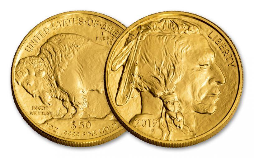 2019 $50 1-oz Gold Buffalo Brilliant Uncirculated