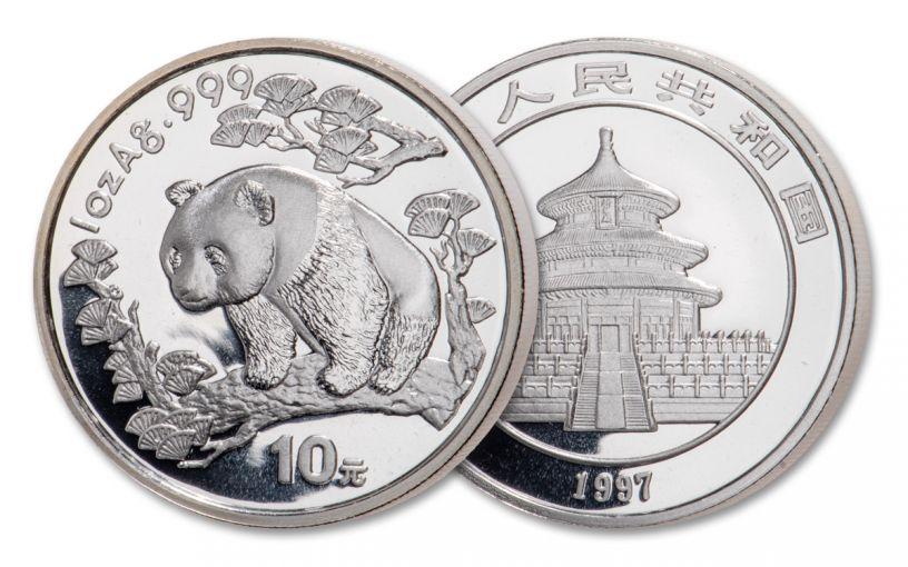 1997 China 1-oz Silver Panda BU