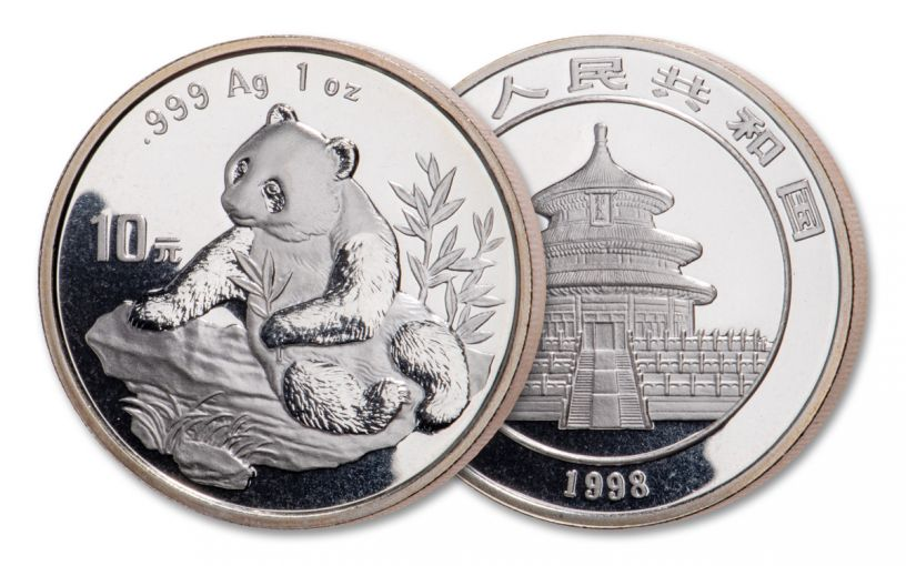 1998 China 1-oz Silver Panda BU