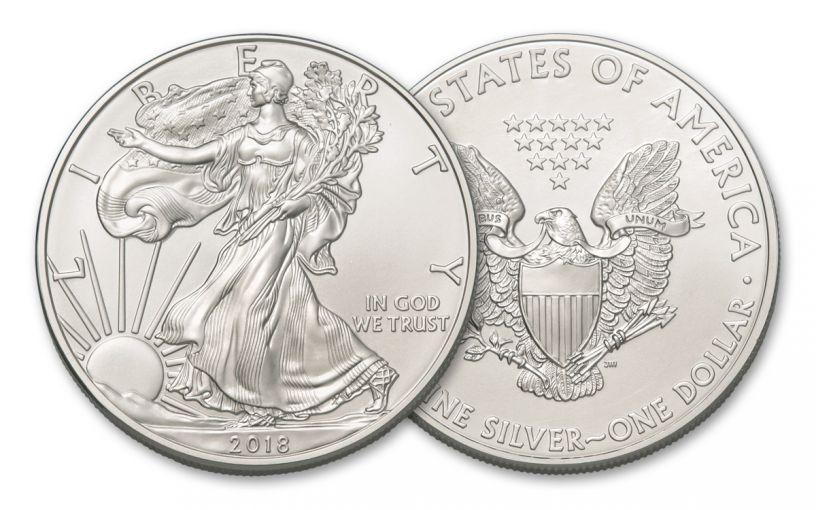 2018 $1 1-oz Silver American Eagle BU - Below Spot Price