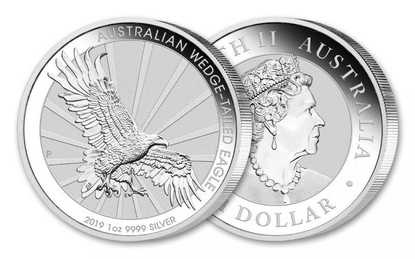 2019 Australia $1 1-oz Silver Wedge Tailed Eagle Uncirculated