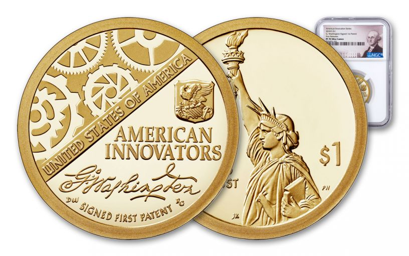2018-S American Innovation Dollar NGC PF70UC First Releases - Washington Label