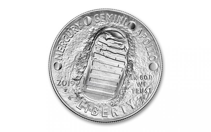 2019-P Apollo 11 50th Anniversary Silver Dollar BU