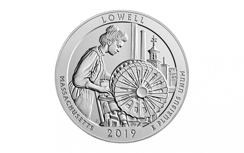 2019-P Lowell National Historic Park 5-oz Silver Quarter America the Beautiful Specimen