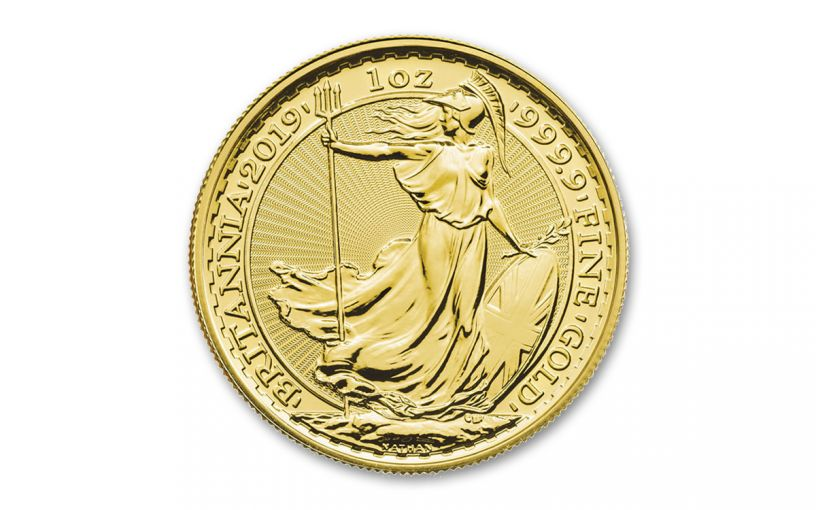 2019 Great Britain £100 1-oz Gold Oriental Britannia BU