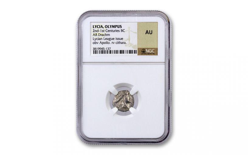 2nd-1st Centuries BC Ancient Greek Silver Lycian League Drachm NGC AU