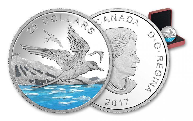 2017 Canada 20 Dollar 1-oz Silver Glistening Arctic Tern Proof