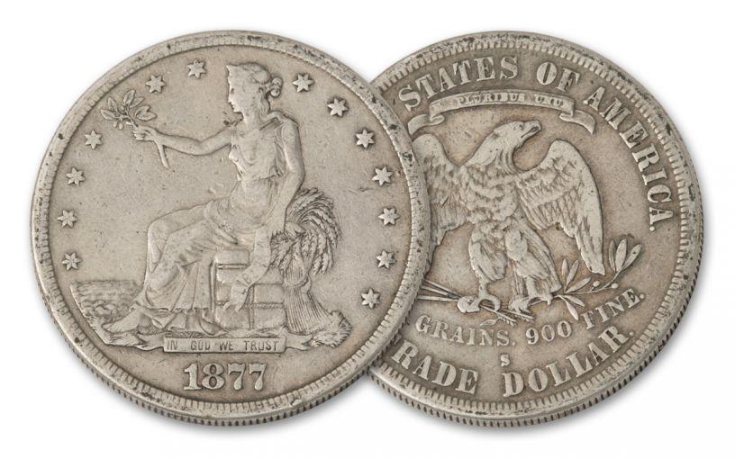 1873–1878 U.S. Silver Trade Dollar Fine-Very Fine