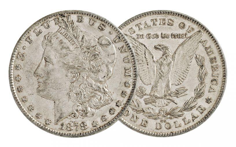 1878-CC Morgan Silver Dollar XF