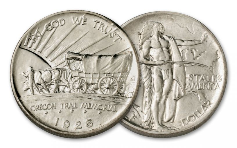 1926-1939 50 Cent Oregon Trail Commemorative AU