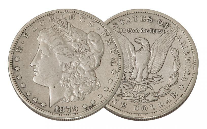 1879-CC Morgan Silver Dollar VF