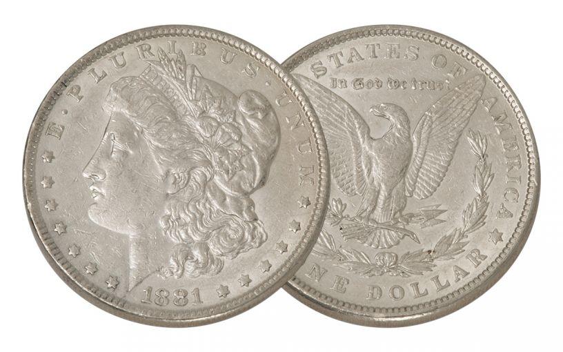 1881-P Morgan Silver Dollar XF