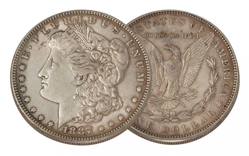 1887-P Morgan Silver Dollar XF