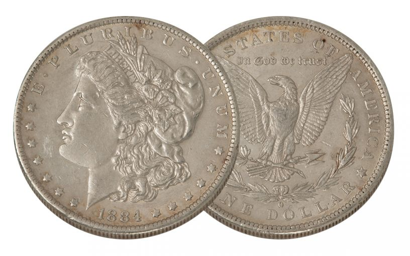 1884-O Morgan Silver Dollar XF