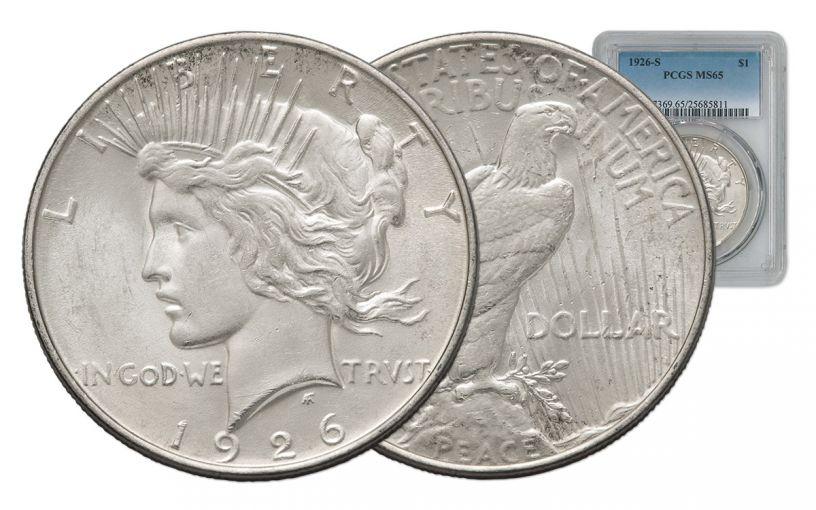 1926-S Peace Dollar PCGS MS65