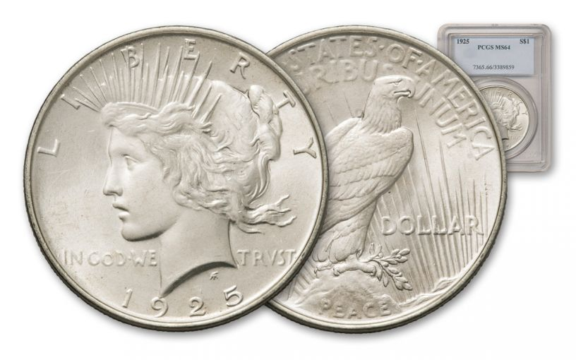 1925-P Peace Dollar NGC/PCGS MS64