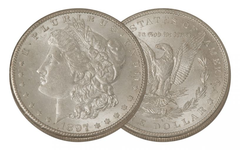 1897-S Morgan Silver Dollar BU