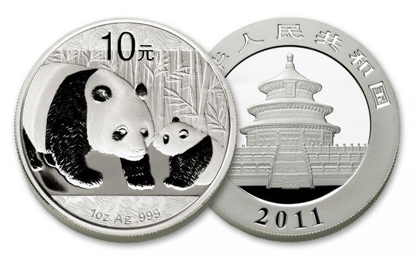 2011 China 1-oz Silver Panda BU