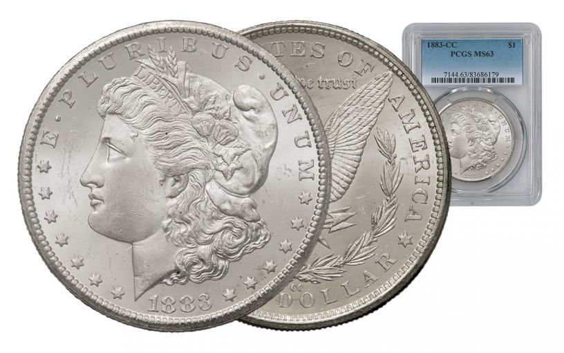 1883-CC Morgan Silver Dollar PCGS MS63