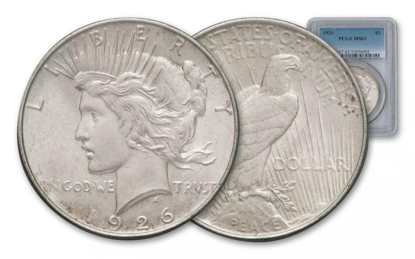 1926-P Peace Dollar NGC PCGS MS63