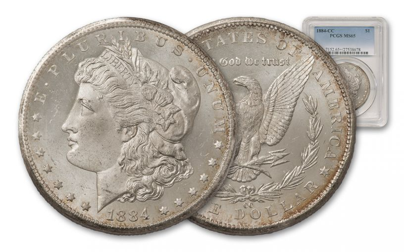 1884-CC Morgan Silver Dollar PCGS MS65