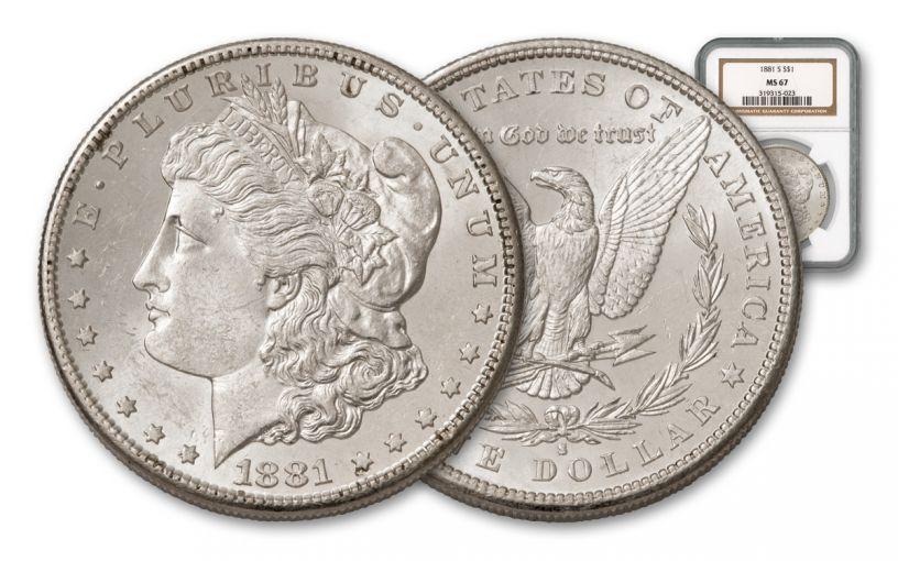 1881-S Morgan Silver Dollar NGC MS67