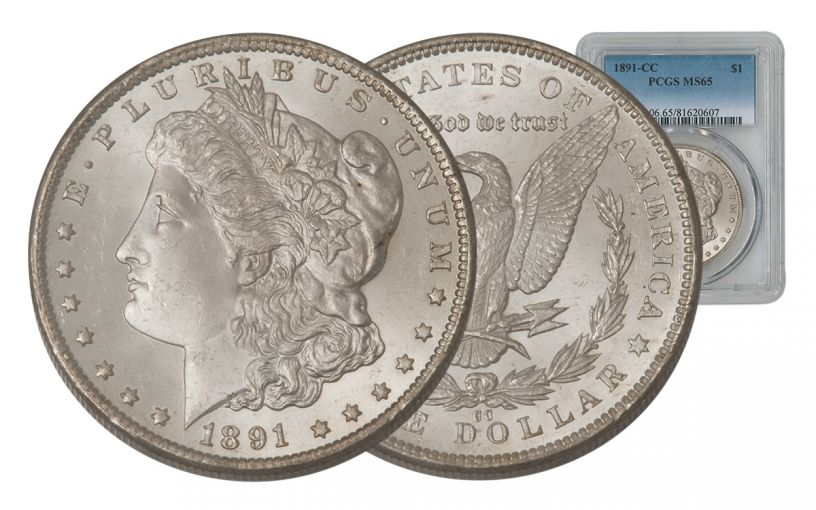 1891-CC Morgan Silver Dollar PCGS MS65