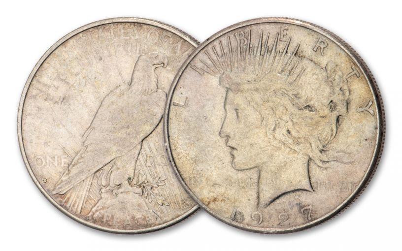 1927-S Peace Dollar XF