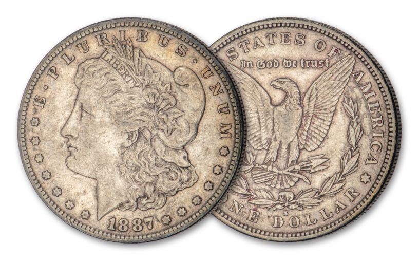 1887-S $1 Morgan Silver Dollar XF