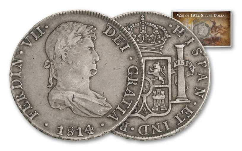 1809-1814 Spain 8 Reales Silver Madison-Jackson