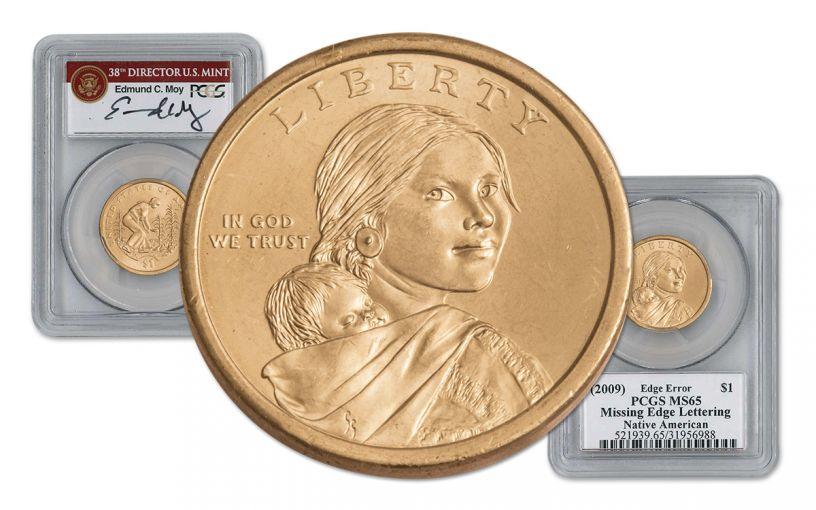 2010 Sacagawea Dollar Error PCGS MS65 Moy Signed