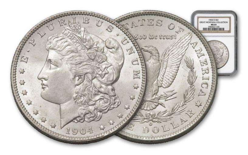 1904-O Morgan Silver Dollar NGC MS64 – Great Montana Collection
