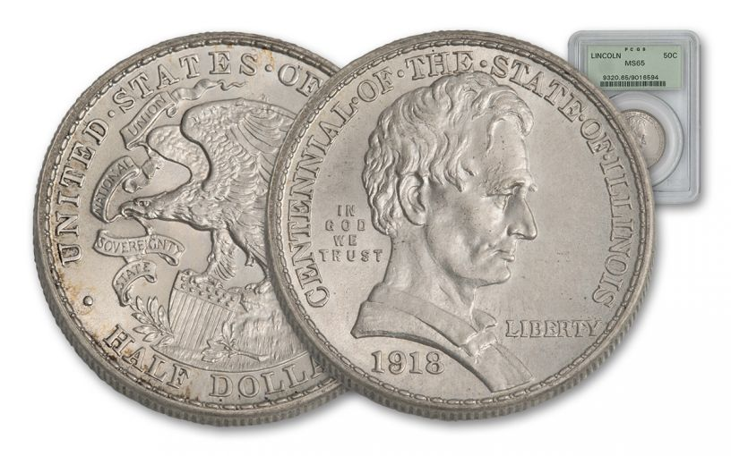1918-P Silver Lincoln Half Dollar NGC/PCGS MS65