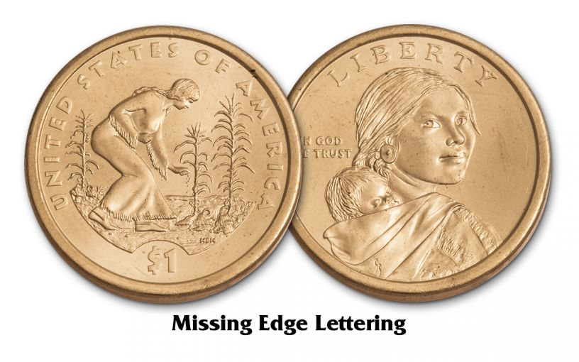 2009 Sacagawea Dollar Error Position B PCGS MS65 2 pc Set