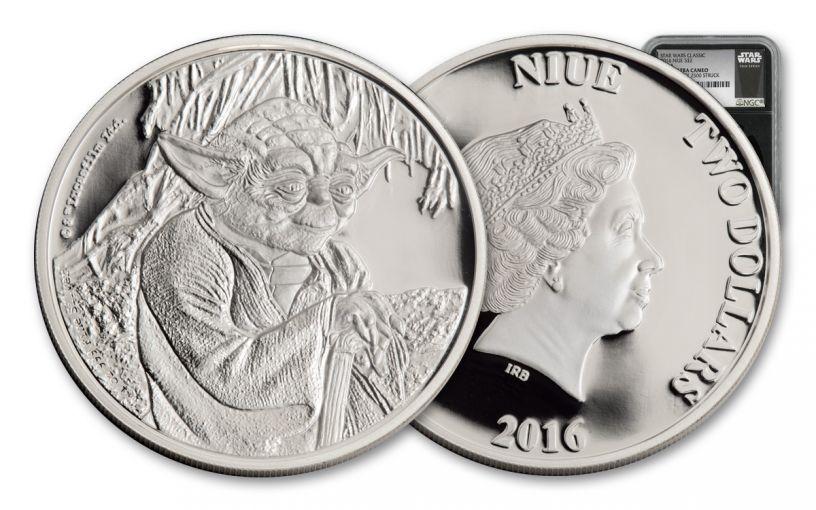 2016 Niue 2 Dollar 1-oz Silver Yoda NGC PF70UCAM First Struck