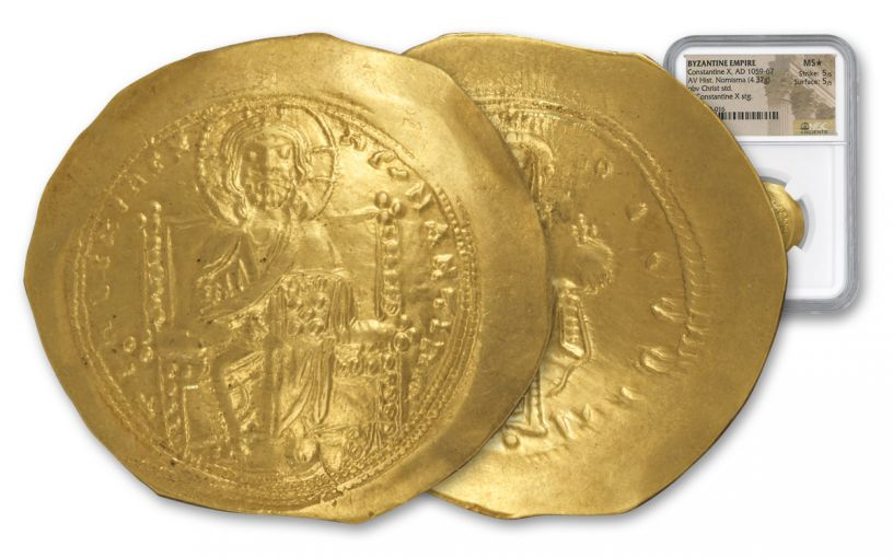 Ancient Byzantine Gold Constantine X NGC MS