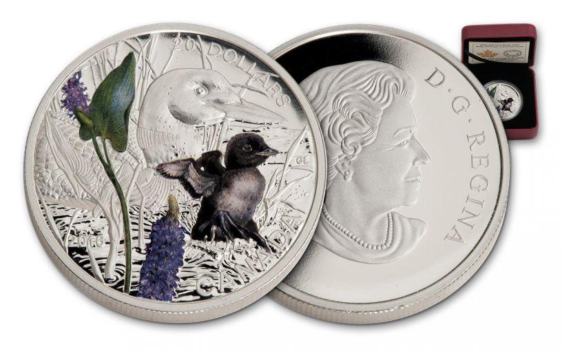 2016 Canada 20 Dollar 1-oz Silver Baby Loon Proof
