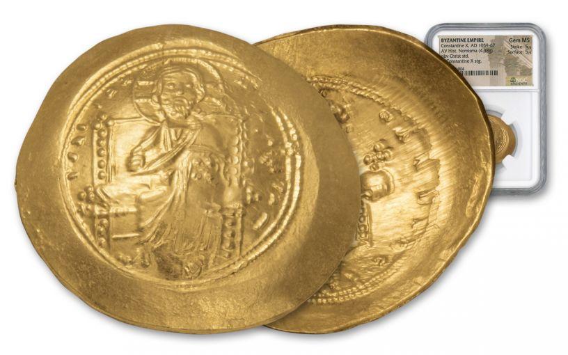 Byzantine Constantine X Nomisma NGC CH MS