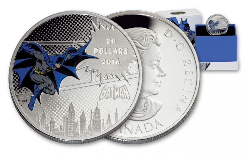 2016 Canada 20 Dollar Silver DC Comics Dark Knight Proof
