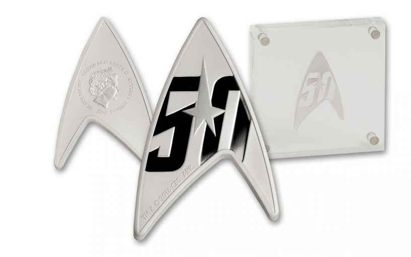 2016 Tuvalu 1 Dollar 1-oz Silver Star Trek: The Original Series - Delta 50th Anniversary