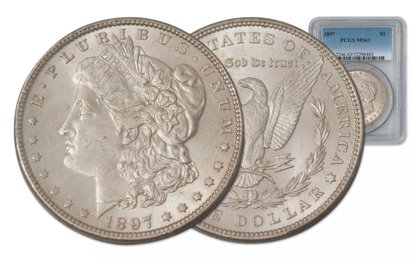 1897-P Morgan Silver Dollar PCGS MS63