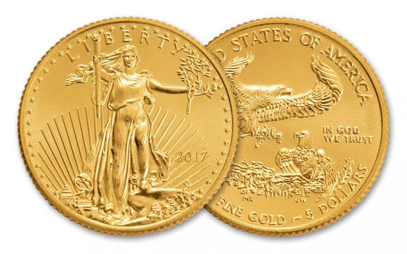2017 5 Dollar 1/10-oz Gold Eagle BU