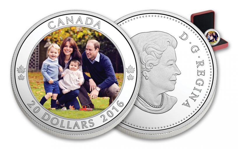 2016 Canada 20 Dollar 1-oz Silver Royal Tour Proof