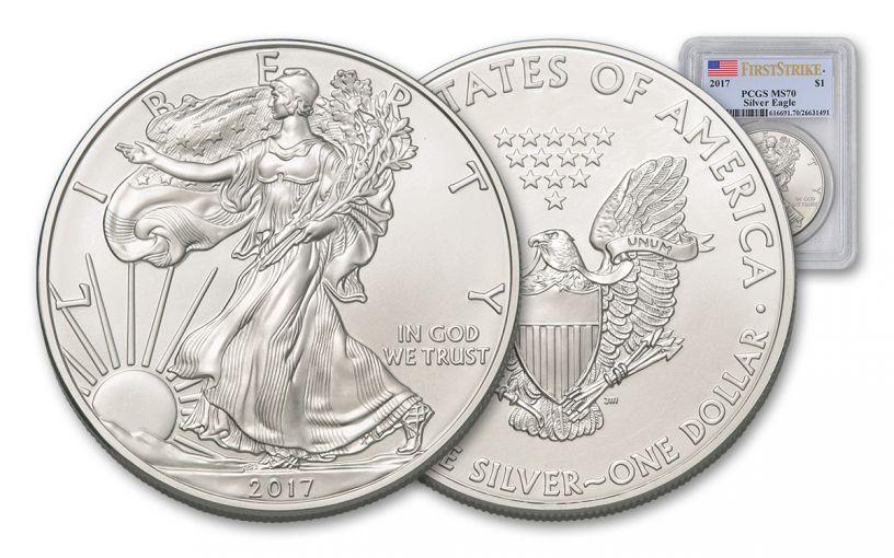 2017 1 Dollar 1-oz Silver Eagle PCGS MS70 First Strike