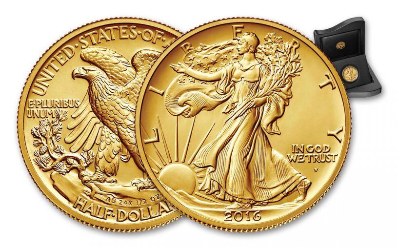 2016-W Half Dollar Gold Walking Liberty Specimen