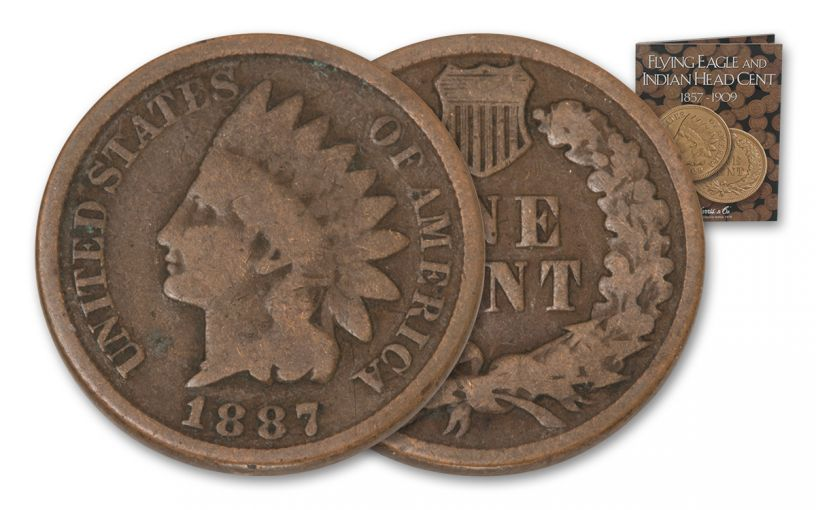 1887-1909 1 Cent Indian Head 21 Pc Set with Album