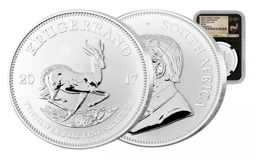 2017 South Africa Silver Krugerrand NGC SP70 Early Release - Black